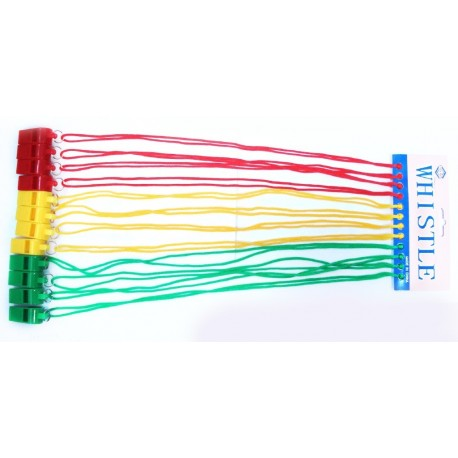 Gwizdek plastikowy na sznurku
