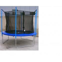 Trampolina 243 cm z siatką ochronną