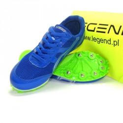 Buty lekkoatletyczne Legend kolce niebieskie