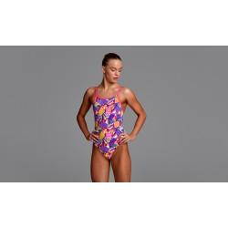 Strój pływacki dziewczęcy FUNKITA Strapped In Purple Patch