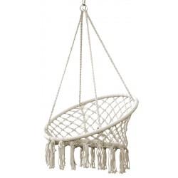 Hamak ażurowy - fotel brazylijski 80x60cm ecru