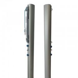 Słupki aluminiowe do siatkówki 120x100mm
